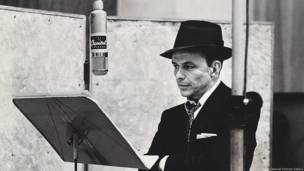 Frank Sinatra by Herman Leonard c. 1956 Institute of Jazz Studies, Rutgers University © Herman Leonard Photography LLC