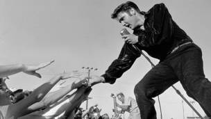 Elvis Presley by Roger Marshutz 1956 The Estee Stanley Private Collection © Roger Marshutz, courtesy Peter Marshutz and the Fahey/Klein Gallery, Los Angeles, CA.