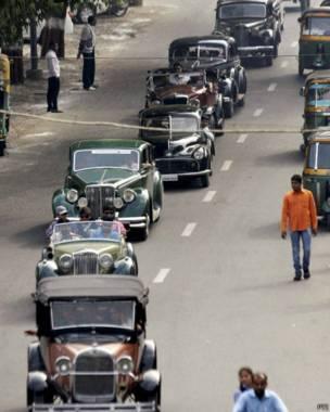 विंटेज कारों की रैली, वडोदरा शहर