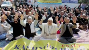 कश्मीरी पंडित समुदाय के सदस्य