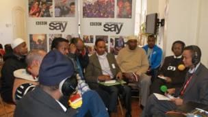 Cabdiraxmaan Koronto iyo ka qaybgalayaal barnaamijka BBC.