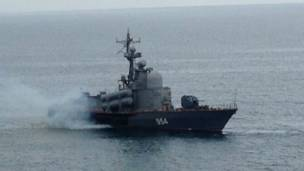 کشتی روس در دریای سیاه