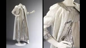 कढ़ाई वाली ईवनिंग ड्रेस