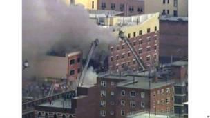 न्यूयार्क की इमारत में लगी आग