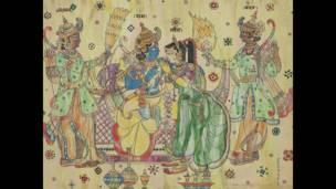 एए अल्मेकर की वॉटर कलर से बनी तस्वीर, दिल्ली आर्ट गैलरी