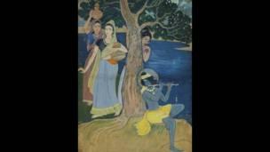 रामेंद्रनाथ चक्रवर्ती वॉटरकलर, दिल्ली आर्ट गैलरी