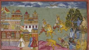 सीताको हरण पछि राम र लक्ष्मणले बाँदरका राजाको सहयोग मागेका थिए