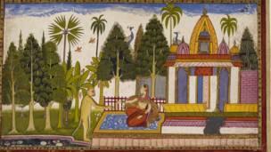 सीता नजिकै पुगेर हनुमानले सीतालाई रामले दिएको औंठी दिएका थिए