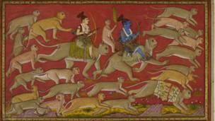 रामले आफ्ना भाइ लक्ष्मण र बाँदरको सेना लिएर लंकामा आक्रमण थालेका थिए