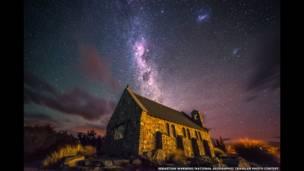 صور السماء في ليل نيوزيلندا