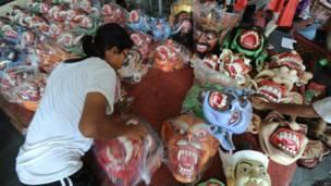 हिंदू नव वर्ष के मौके पर बाली में ओगोह-ओगोह परेड की तैयारी
