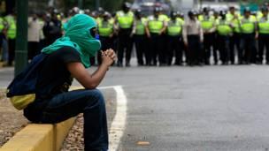 Disturbios en la universidad central de venezuela, caracas