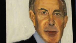 Retrato de Tony Blair. Foto: AP
