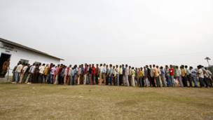 सोलहवीं लोकसभा के लिए मतदान