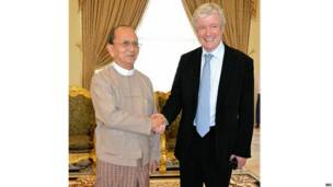 Lord Tony Hall with Myanmar President