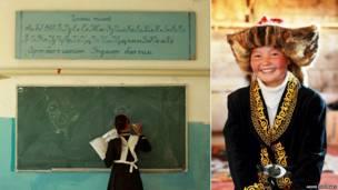 Ашол-Пан в школе и ее портрет. Фото: Asher Svidensky / Caters News Agency
