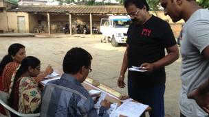 बंगलौर का एक मतदान केंद्र