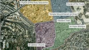 Hak Atas Foto Google Image Caption Pembagian Wilayah Suci Tiga Agama Di Yerusalem