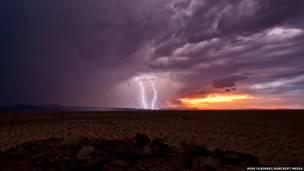 صورة لصاعقة في اريزونا في 2010