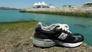 Sepatu di pelabuhan Jindo