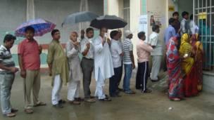 हाजीपुर में मतदान