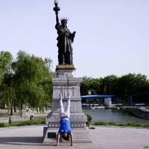 चीन,  बीजिंग वर्ल्ड पार्क, स्टेच्यू ऑफ़ लिबर्टी