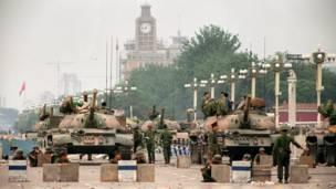 长安街上的中国人民解放军坦克