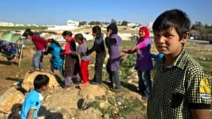 सीरिया शरणार्थी बच्चे