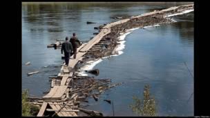 Мост через реку Чая, Томская область