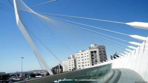 "Мост ""Арфа Давида"" в Иерусалиме"