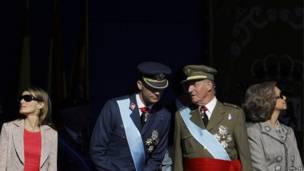 Испанский кронпринц Филипп и король Хуан Карлос