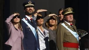 Члены испанской королевской семьи
