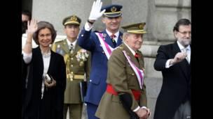 Королева Испании София и кронпринц Филипп