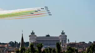 इटली, रोम, राष्ट्रीय ध्वज