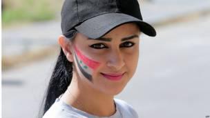 सीरिया, चुनाव, छात्रा, झंडा