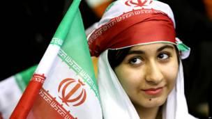 ईरान, महिला, झंडा