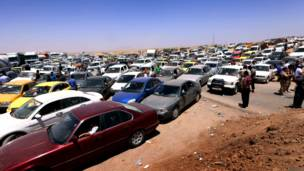 इराक़, मूसल, चरमपंथियों का नियंत्रण, शहर छोड़ने को मजूबर नागरिक