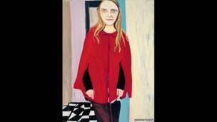 चैंटल जोफ़े की कलाकृति 'रेड केप'