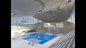 Centro aquático de Londres, Riba