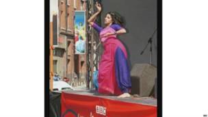 एक भारतीय नर्तकी.