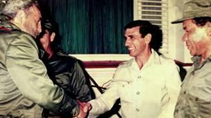Juan Reinaldo Sánchez com Fidel Castro   Crédito: Arquivo pessoal/Juan Reinaldo Sánchez