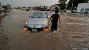 टेक्सास में भारी बारिश