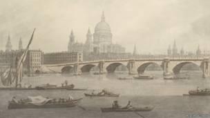 (Puente de Blackfriars. Joseph Farrington -1747–1821).