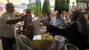 أحد أسواق العاصمة العراقية بغداد