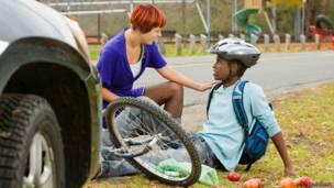 Разговор со сбитым велосипедистом