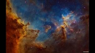 El centro del la Nebulosa del Corazón. Foto: Iván Eder.