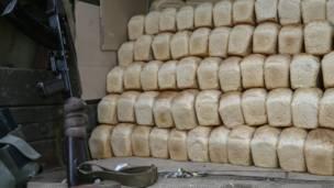 Хлеб для жителей Славянска