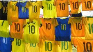 ब्राज़ीली फुटबॉल शर्ट्स