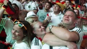 Германские болельщики рады голу