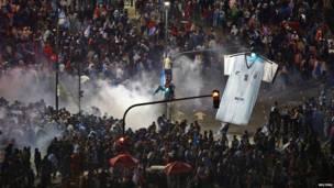 Столкновения в Буэнос-Айресе